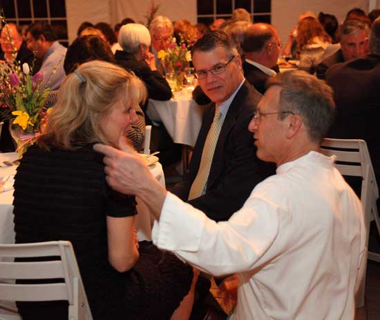 Chef Paul gets the attention of Heidi Siegrist and Paul Eisenberg.